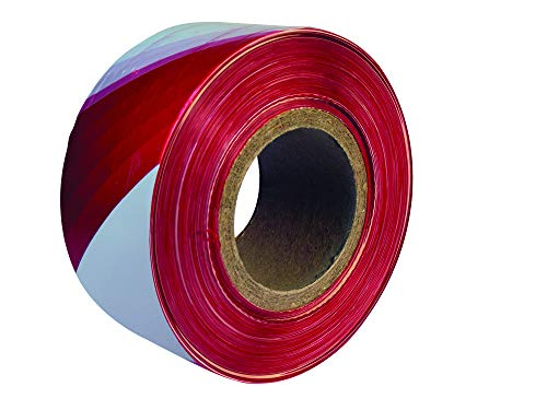 Everbuild Mammoth Barrier Tape - Red/White - 72 mm x 500 m - Shoppersbase