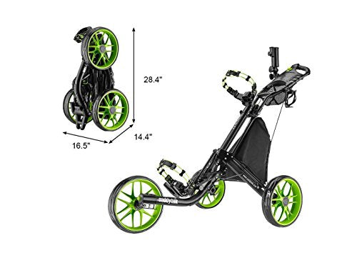 CaddyTek EZ-Fold 3 Wheel Golf Push Cart,golf trolley - Shoppersbase