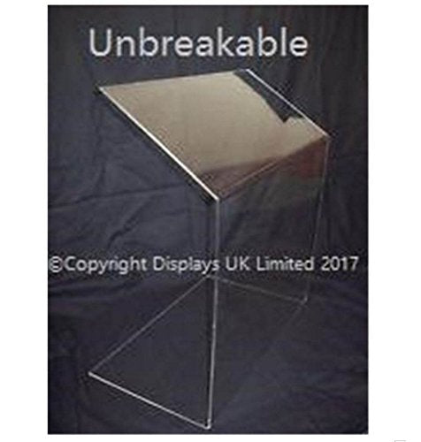 Displays UK Unbreakable Clear Perspex Acrylic Sneeze Guard/Security Screen - Medium - 900mm Wide - Shoppersbase