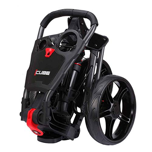 SkyMax 2019 CUBE 3 WHEELED COMPACT GOLF TROLLEY +FREE £39.99 ACCESSORY PACK (CHARCOAL/BLACK) - Shoppersbase