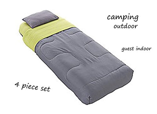 RMW Single Adult Airbed with pillow and Sleeping Bag in one 4 piece set - Shoppersbase