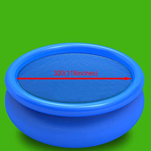 vidaXL Solar Pool Film Floating Round PE 300cm Blue Bubble Padding Cover Sheet - Shoppersbase