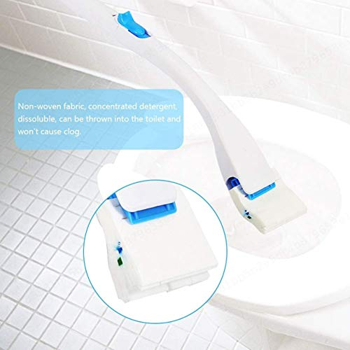 CLTYQ Toliet Brush Flush Cleaning Toilet Brushes Replaceable Concentrated Detergent Brush Head for Bathroom Household - Shoppersbase