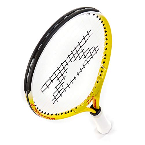 ZSIG Children's Mini Tennis Racket - 17 inch, Yellow/White - Shoppersbase