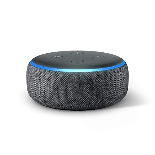 Echo Dot (3rd Gen) - Smart speaker with Alexa - Charcoal Fabric - Shoppersbase