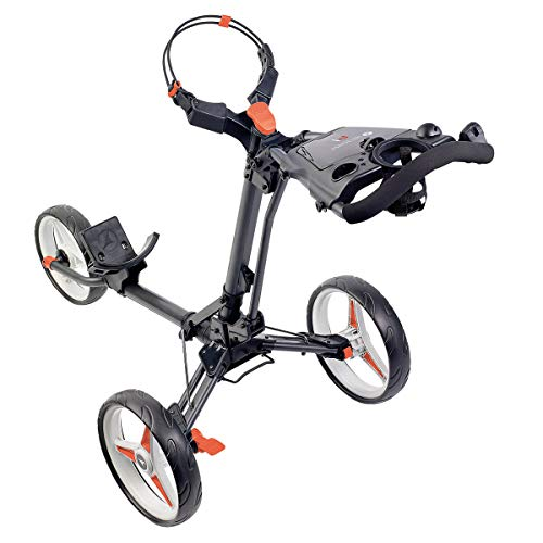 Motocaddy P1 Push Golf Trolley (Graphite With Red Trim) - Shoppersbase