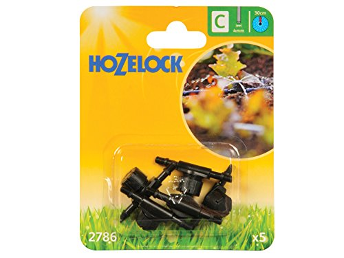 Hozelock In-Line Adjustable Mini Sprinkler, 4 mm - Pack of 5 - Shoppersbase