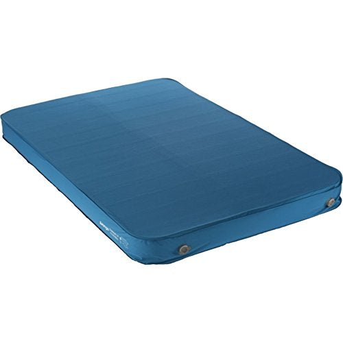 Vango Shangri-La 15 15cm Thick Double Sleeping Mat, Self Inflating Sleeping Mat with Cyclone Valve, Inflate/Deflate in 30 Seconds, Sky Blue - Shoppersbase