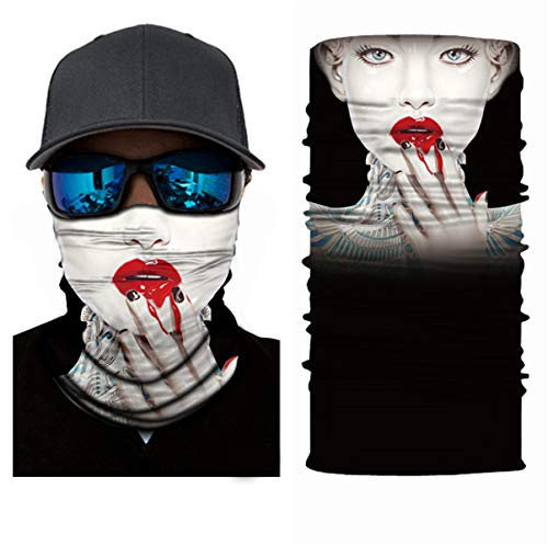 3D Multifunctional Protective Face Mask Cycling Scarf Outdoor Face Shield Headwear Windproof Hiking Headband Running Head Wrap Skiing Warm Neck Gaiter Snowboarding Bandana Balaclava UV Protection 360 - Shoppersbase