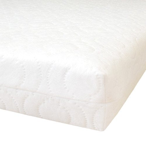 "Ready Steady Bed Quilted Anti-Allergenic Breathable Foam Cotbed Mattress. Size: 70cm x 140cm, 4"" Depth - Shoppersbase"