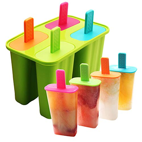 Ice Cream Mould, DEHUB Ice Lolly Moulds FDA Certified Food Grade Silicone Ice Pop Maker, BPA Free Popsicle Molds Set with Sticks and Drip Guards (Green, 1 Pack) - Shoppersbase