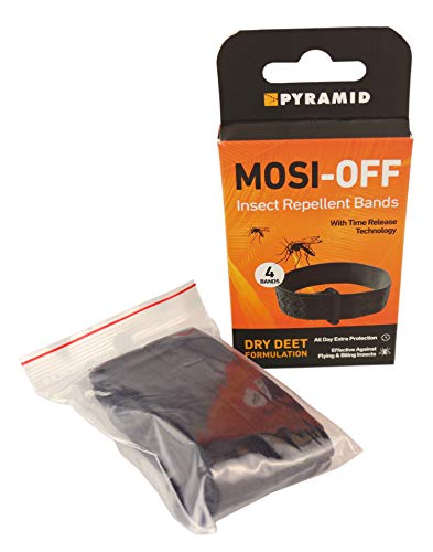 Pyramid Mosi-Off Insect Repellent Bracelets / Bands - 4 pack - Shoppersbase