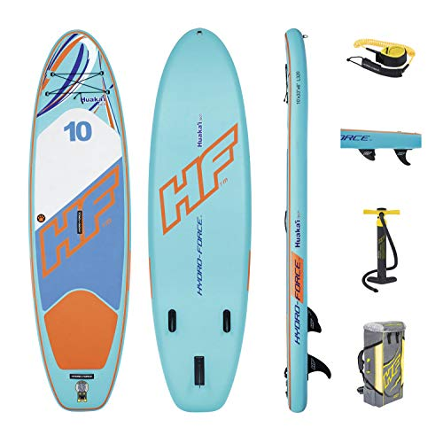 Bestway Hydro-Force Huaka'I Tech Inflatable SUP Stand Up Paddle Board with Carry Bag and Pump - Shoppersbase