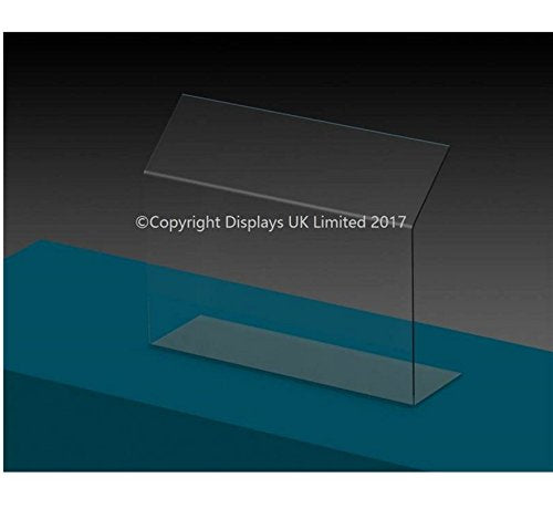 Displays UK Budget Clear Perspex Acrylic Sneeze Guard/Security Screen - Medium - 900mm Wide - Shoppersbase