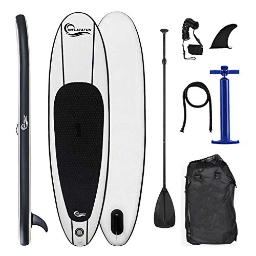 Inflatafun 10ft Inflatable Stand Up Paddle Board SUP Sports Surf Paddle Pump Kayak Sports - Shoppersbase