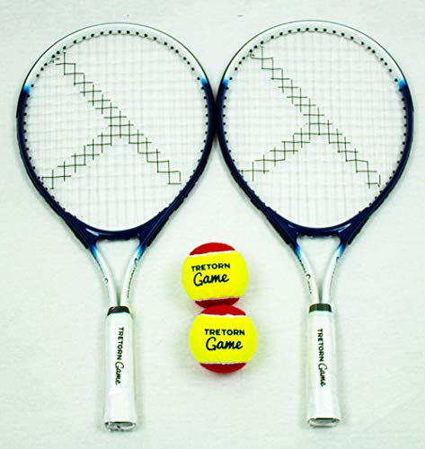 "TRETORN Game 21"" Junior Tennis Racket + Two Red Mini Tennis Balls - Shoppersbase"