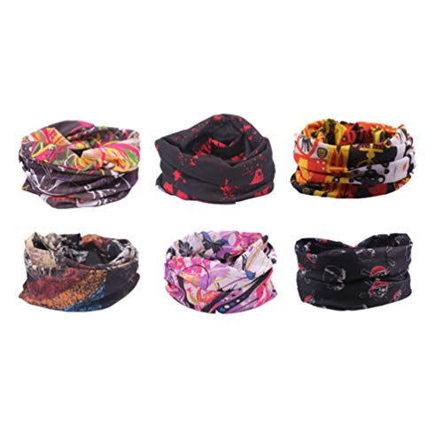Beaupretty Bandana Face Shield Buff Scarf, Multifunctional Outdoor Magic Scarf, Elastic Wide Headband Tube Headwear - Shoppersbase