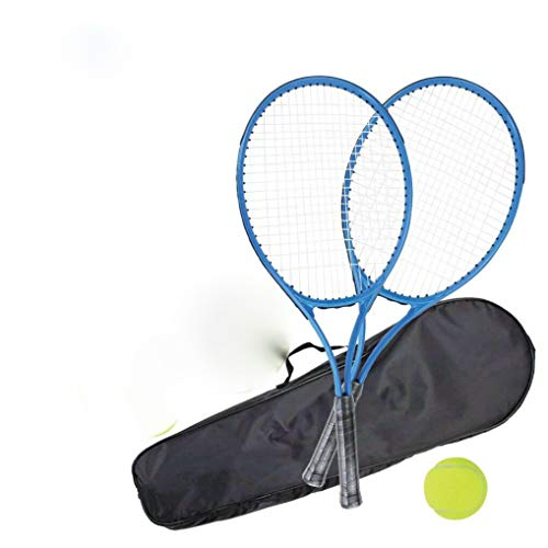 ADEPTNA 2 Player Tennis Racket Set with Carry Case for Adults Kids Children - Garden Outdoor Sports Fun Family Game - Shoppersbase