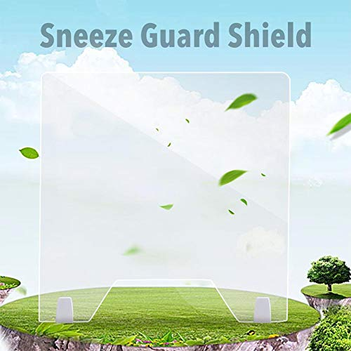 Dettelin Transparent Acrylic Sneeze Guard Shield for Most Countertops Desktops,Smooth Sneeze Droplets Panel Board,sneeze guard shield for counter - Shoppersbase