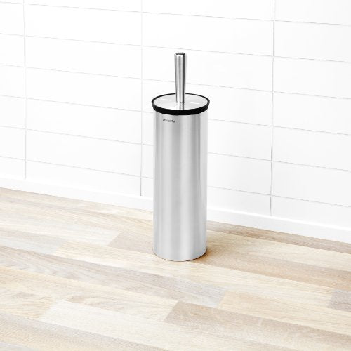 Brabantia Toilet Brush and Holder - Matt Steel - Shoppersbase