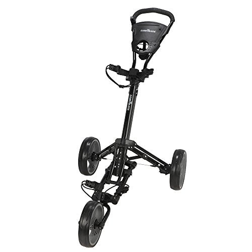 Caddymatic Golf X-Lite One-Click Folding Pull/Push Golf Trolley Black - Shoppersbase