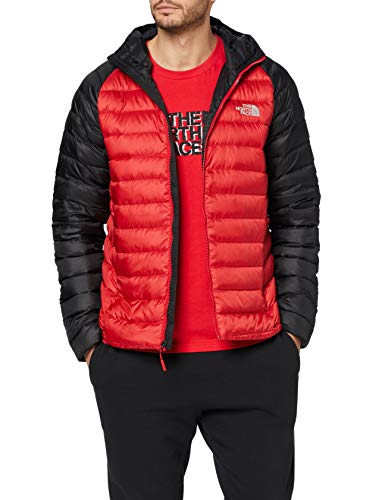 THE NORTH FACE Men's M Trevail Hoodie Insulated Down, TNF Red/TNF Bla, L - Shoppersbase
