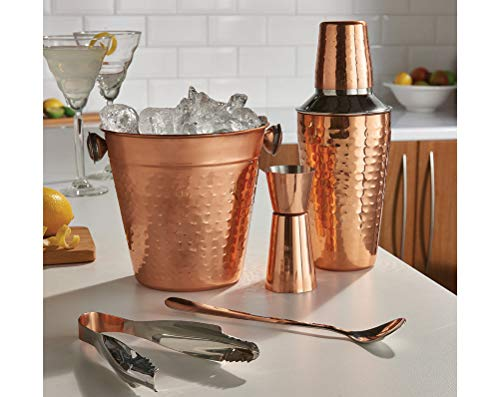 Trendi 2 5 Pcs Copper Cocktail Shaker Gift Set Mixer Making Home bar kit Accessories - Shoppersbase