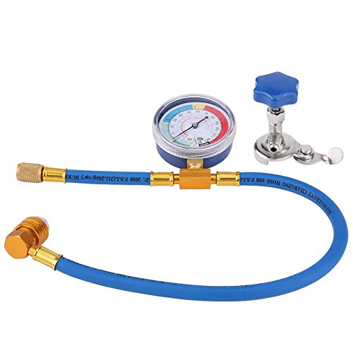 Recharge Measuring Hose Gauge, Car R134A Recharge Hose With Gauge AC Refrigerant Recharge Hose With Charging Pipe Gauge For R134A - Shoppersbase