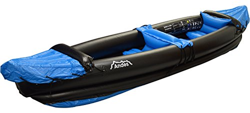Andes Blue Inflatable/Blow Up Two Person Kayak/Canoe With Paddle Water Sports - Shoppersbase