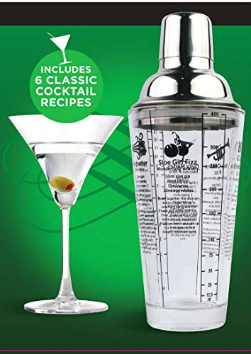 Glass Recipe Cocktail Shaker Gin Vodka OR Mixed (Gin) - Shoppersbase
