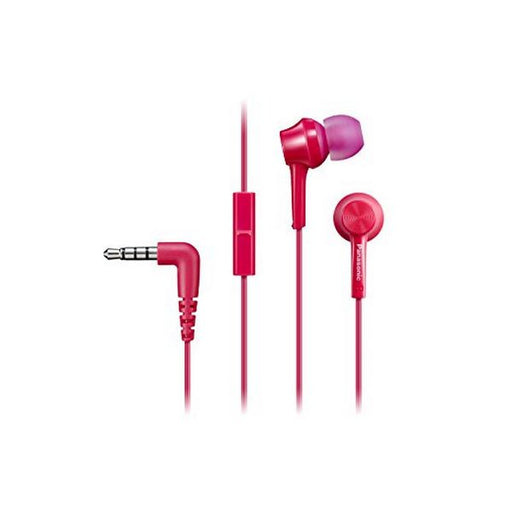 Headphones with Microphone Panasonic RP-TCM105E in-ear Pink - Shoppersbase