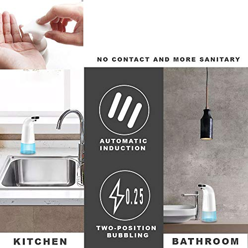 Daskoo Automatic Foam Soap Dispenser, IR Motion Sensor Touchless Foaming Soap Dispensers for Kitchen Bathroom 280ml - Shoppersbase