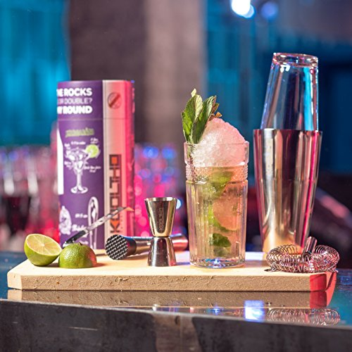 Boston Cocktail Shaker Set Professional, Large Cocktail Shakers Glass Stainless Steel Tin Cocktails Maker Kit Box Can Be Personalised, Gifts for Women Men Couples Present Idea - Shoppersbase