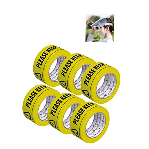 Social distance Floor tape 2 metre keep safe x 12 rolls - Shoppersbase