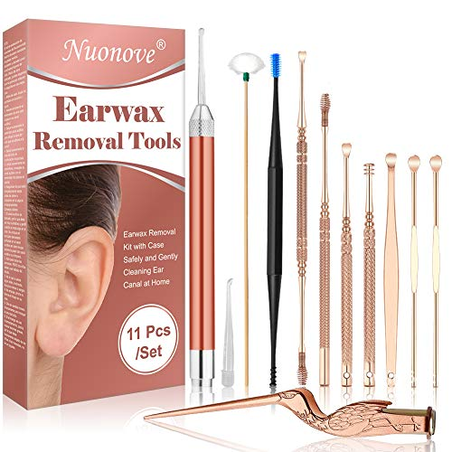 Ear Wax Removal Kit, Ear Cleaning Kit, Ear Wax Removal, Ear Pick, Ear Cleaner Made of Stainless Steel, Earwax Removal Tool Kit for Kids and Adults, 11 Pcs - Shoppersbase