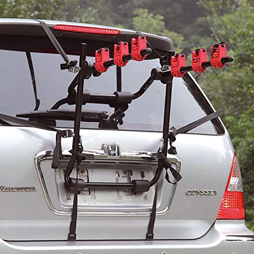Universal Bike Bicycle Cycle Deluxe Rear Mount Towbar Car Rack Carrier (3 Bike Bicycle Carrier) - Shoppersbase