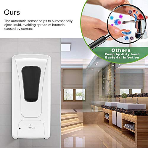 TTAototech Smart Sensor Dish Soap Dispenser-1000mL Touch-Free Automatic Hand Sanitizer Dispenser,Liquid 1ml,No Waste Soap Pump for Bathrooms, Kitchens, Kindergartens, Hotels,Virus Cleanning (1000ML) - Shoppersbase