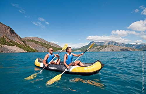 Sevylor Colorado Stable and Comfortable Inflatable Kayak, Sea Kayak with Bag Ideal for Lakes or Sea Shores, Two Person - Shoppersbase
