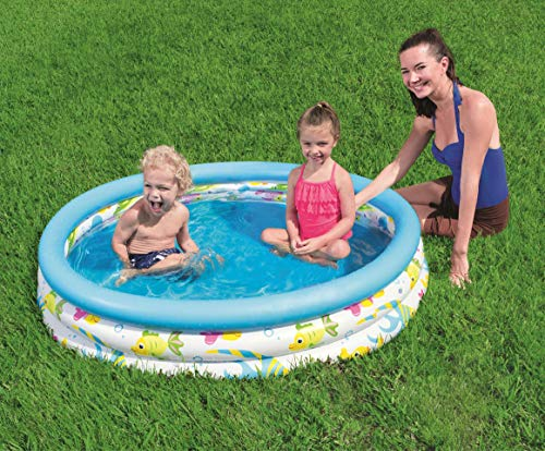 Bestway BW51009 48 x 10 Inch Ocean Life Kids Paddling Pool, Multi-Coloured - Shoppersbase