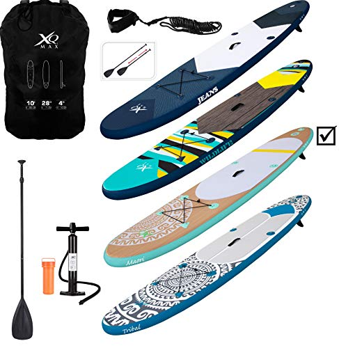 XQ MAX INFLATABLE SUP PADDLE BOARD KAYAK 10FT WITH ACCESSORIES (Maori XQ Max) - Shoppersbase