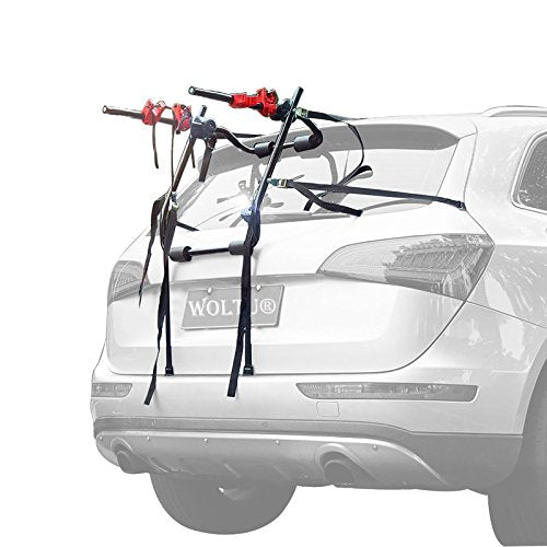 WOLTU Universal 2 Bike Bicycle Hatchback Car Mount Rack Stand Carrier Rear Mounted 2 Cycle Carrier Car Rack FZ1121 - Shoppersbase