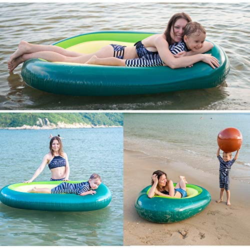 Myir Giant Inflatable Avocado Float, Large PVC Outdoor Swimming Pool Float Toy River Raft Beach Lounger for Adults Kids.