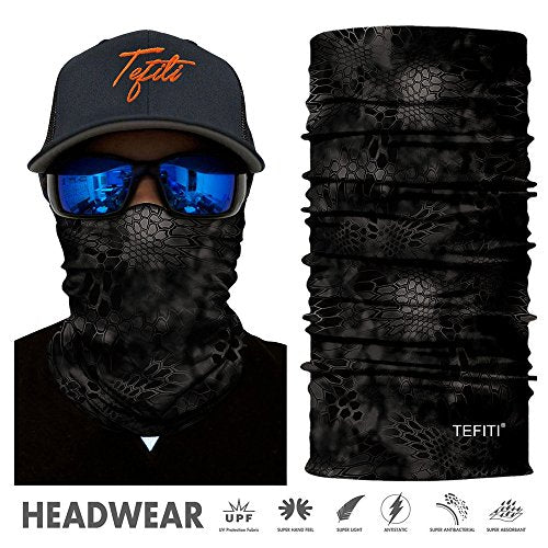 TEFITI Balaclava Face Scarf, Multifunctional Headwear Neck Gaiter for Men, 3D Dust Scarf Sun UV Dust Wind Proof for Outdoor Camping, Running, Motorcycling, Fishing, Hunting - Shoppersbase