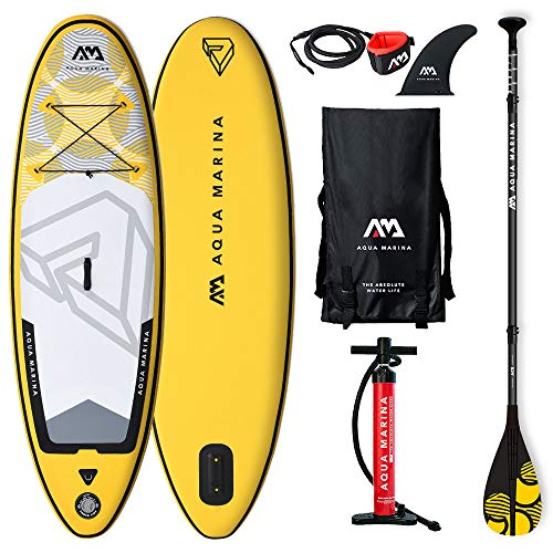 Aqua Marina Kids' Vibrant SUP Stand Up Paddleboard with Leash, Backpack, Paddle and Double Action Pump - Shoppersbase