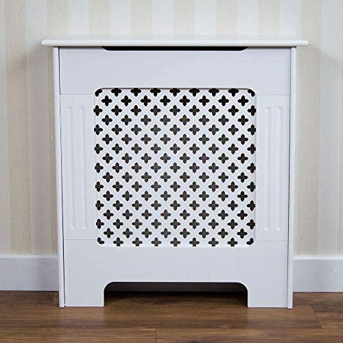 CASTAIN Radiator Cover Radiator Cabinet Modern Style, White MDF Cabinet, Small (S) - Shoppersbase