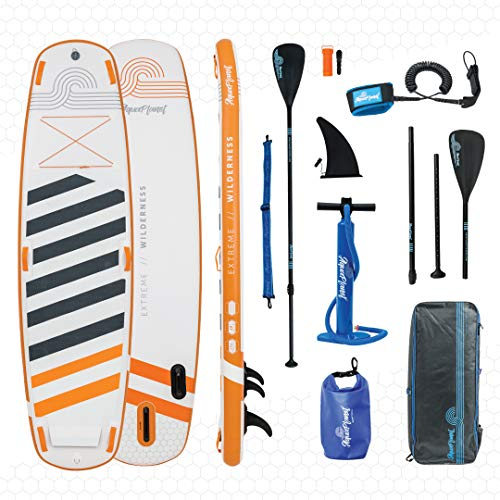 "AQUAPLANET WILDERNESS SUP Inflatable Stand Up Paddle Board Kit | 6"" Thick 