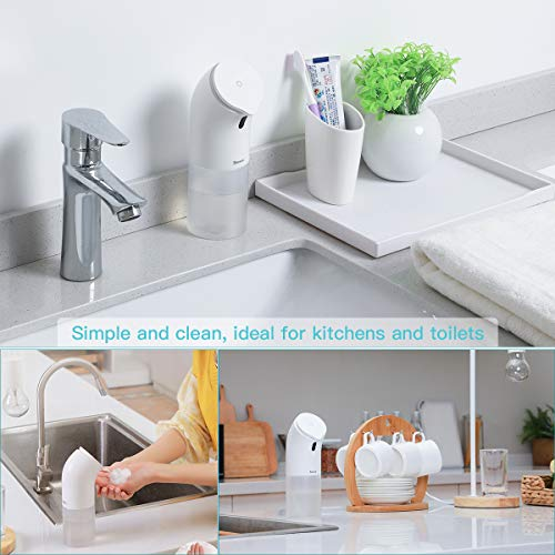 Baseus Automatic Soap Dispenser, Contactless with Infrared Motion Sensor AdjustableFoam Volume for Adult Children Suitable Bathroom, Kitchen, Hotel, Restaurant - Shoppersbase