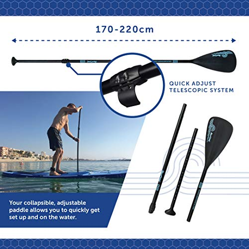 AQUAPLANET ALLROUND TEN SUP Inflatable Stand Up Paddle Board Kit | 3M | 10' Long | Adjustable Paddle | Carry Backpack | Dual-Action Pump | Ankle Safety Leash | Repair Kit | Waterproof Dry Bag - Shoppersbase