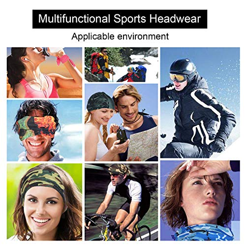 YINXN 9PCS Bandana Headband, Buff Neckwear Balaclava Mask Wristband 13-In-1 Elastic Scarf Sports Magic Headwrap for Yoga Cycling Hiking Running - Shoppersbase