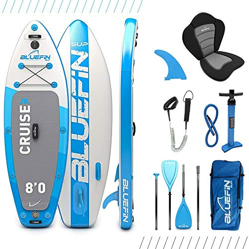 "Bluefin SUP Inflatable Stand Up Paddle Board | 6"" Thick 